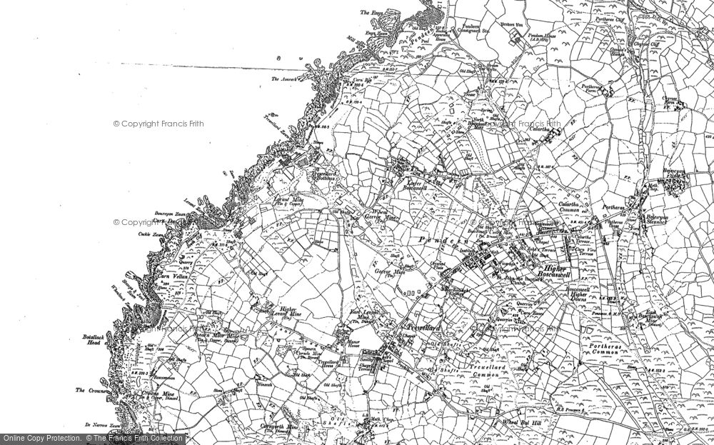 Old Map of Historic Map covering Avarack, The in 1906