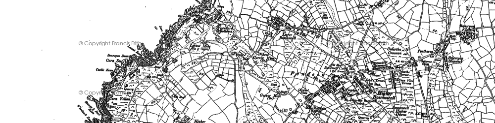 Old map of Three Stone Oar in 1906