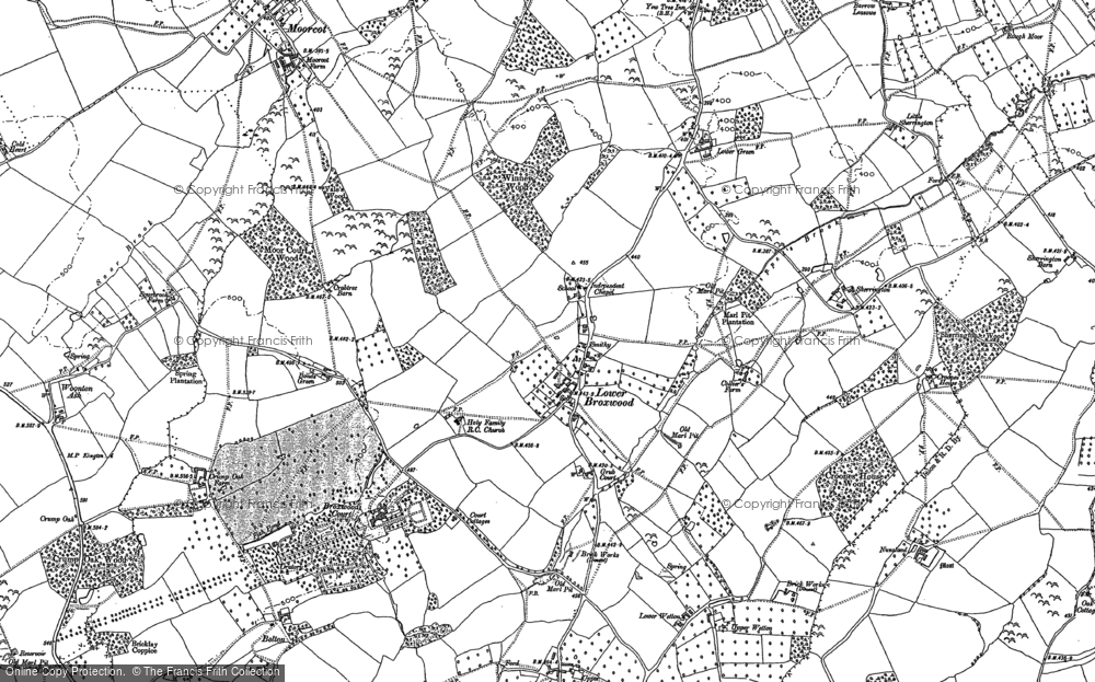 Old Map of Historic Map covering Wetton in 1886