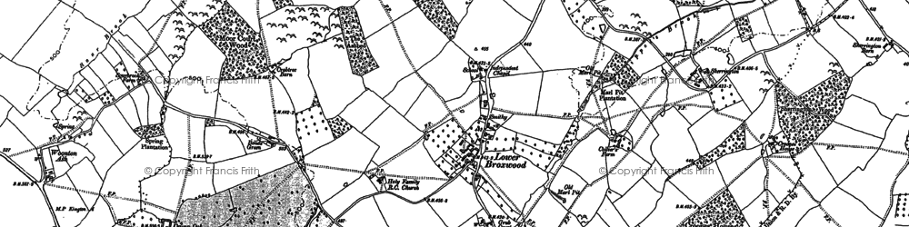 Old map of Wetton in 1886