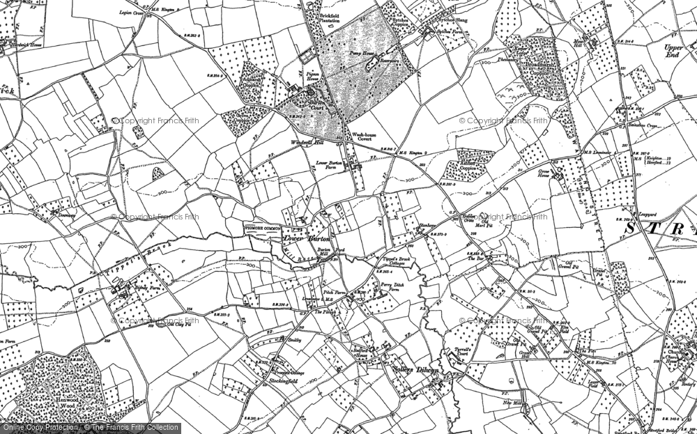 Old Map of Historic Map covering Tippet's Brook in 1885
