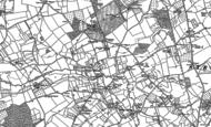Old Map of Lower Burton, 1885