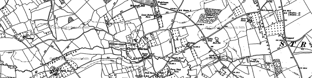 Old map of Lower Hardwick in 1885