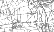 Old Map of Lower Caldecote, 1882 - 1900