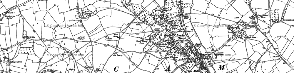 Old map of Lower Cam in 1882