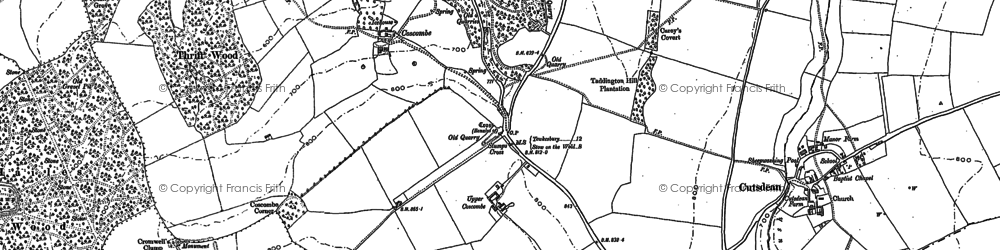 Old map of Lidcombe Wood in 1883