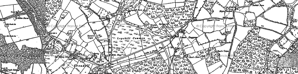 Old map of Alderholt Park in 1900