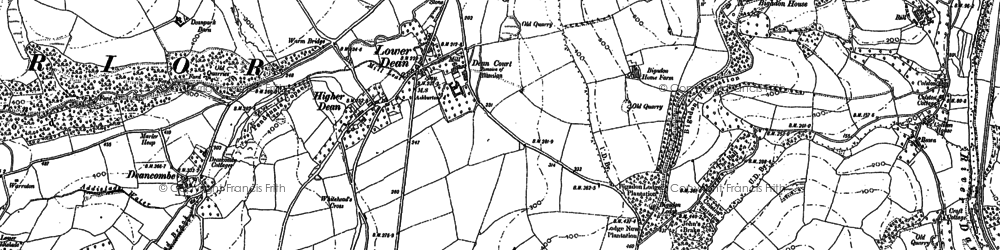 Old map of Lower Dean in 1885