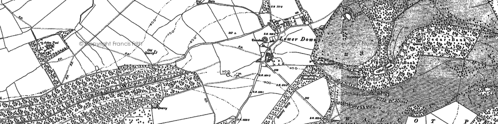 Old map of Withins Wood in 1883