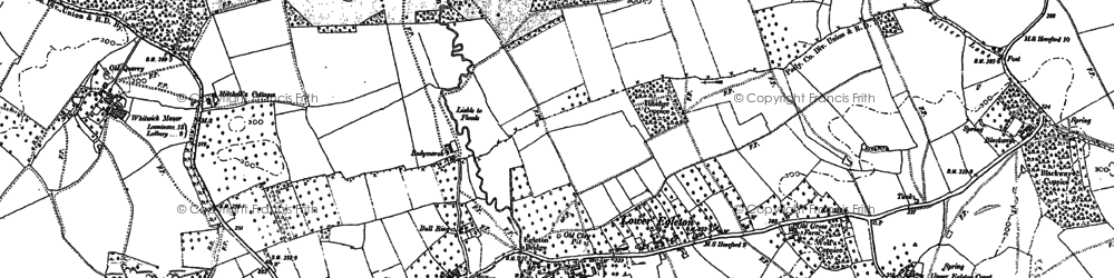 Old map of Whitwick Manor in 1885