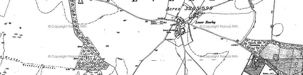 Old map of Abbots Down in 1899