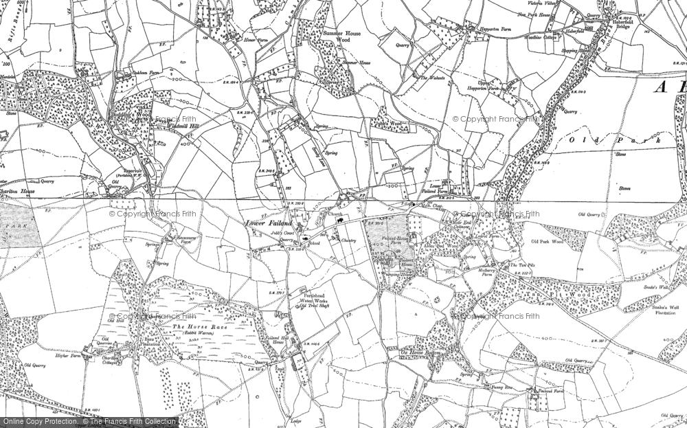 Old Map of Lower Failand, 1883 - 1902 in 1883