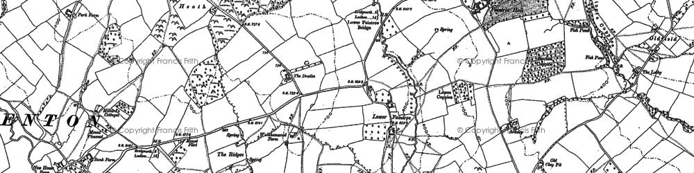 Old map of Winterburn Brook in 1883