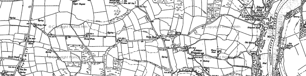 Old map of Woodbine in 1888