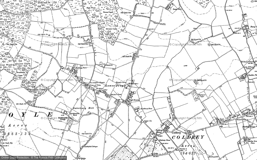 Old Map of Lower Froyle, 1894 - 1909 in 1894