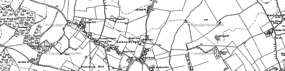 Old map of Lower Froyle in 1894
