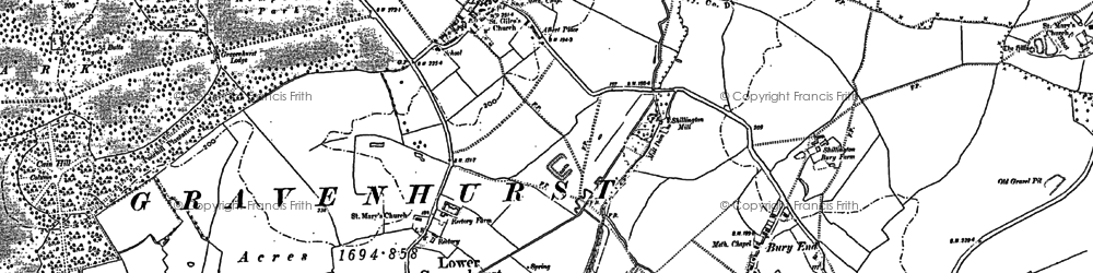 Old map of Wrest Ho in 1882
