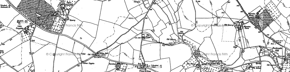 Old map of Winter's Cross in 1887