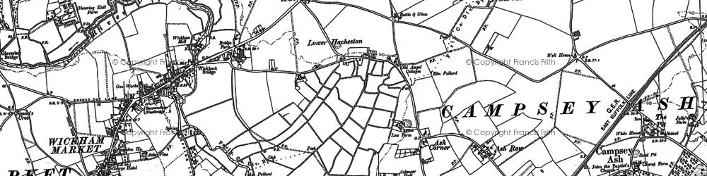 Old map of Ash Corner in 1883