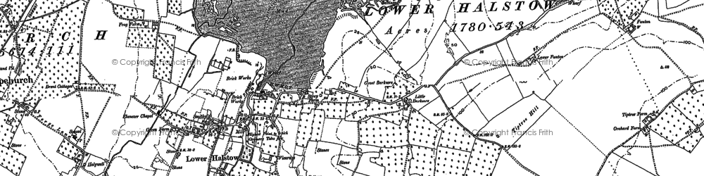 Old map of Lower Halstow in 1896