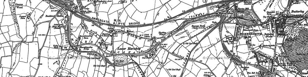 Old map of Lower Hartshay in 1879