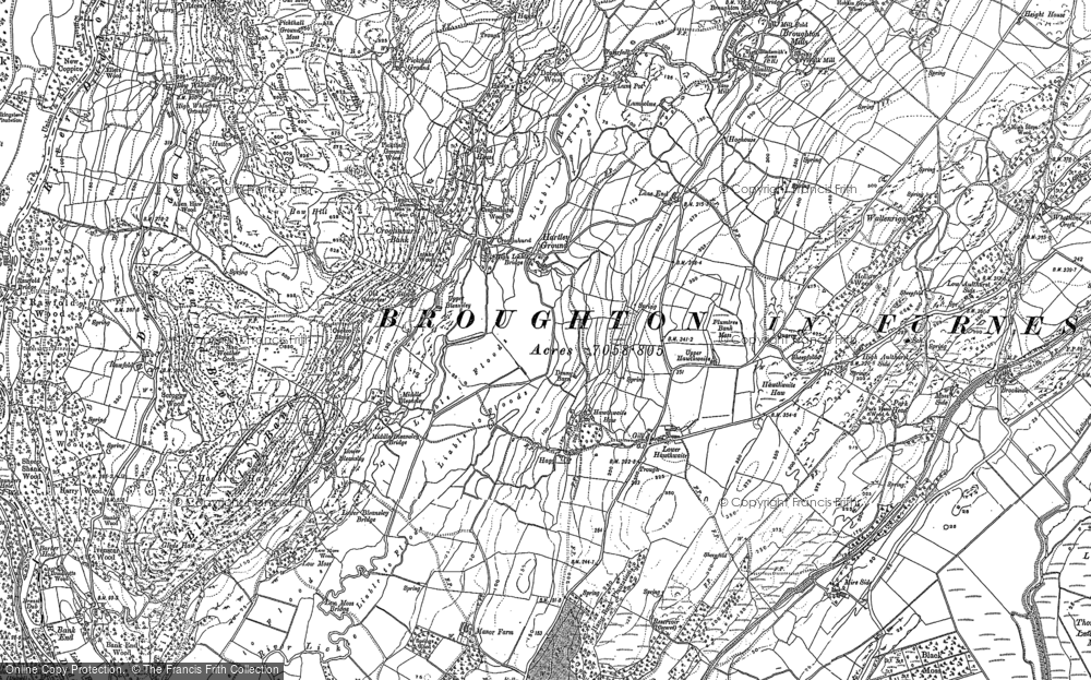 Old Map of Historic Map covering Lane End in 1911