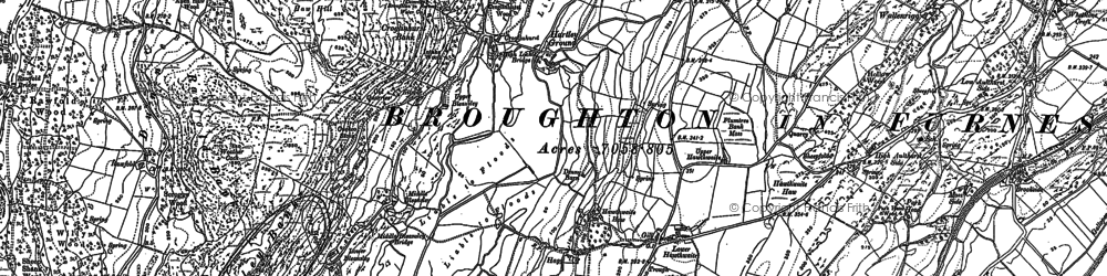 Old map of Lane End in 1911