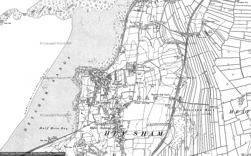 Old Map of Lower Heysham, 1910 - 1931 in 1910