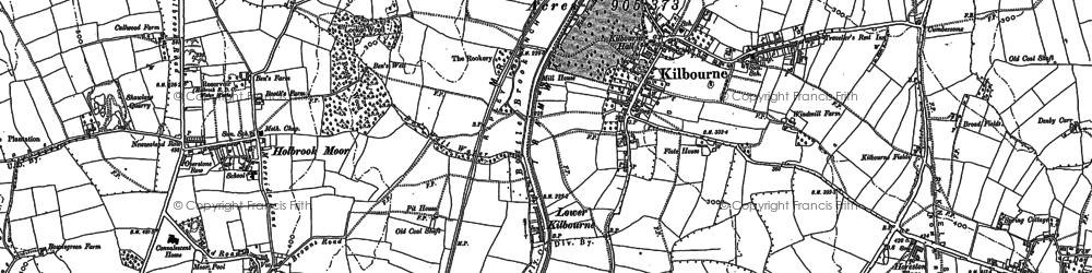 Old map of Lower Kilburn in 1880
