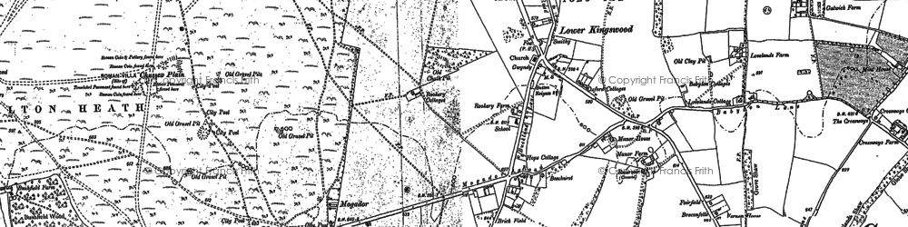 Old map of Lower Kingswood in 1895