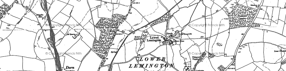 Old map of Wolford Wood in 1900