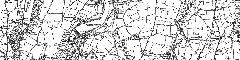 Old map of Banc Darren-fawr in 1897