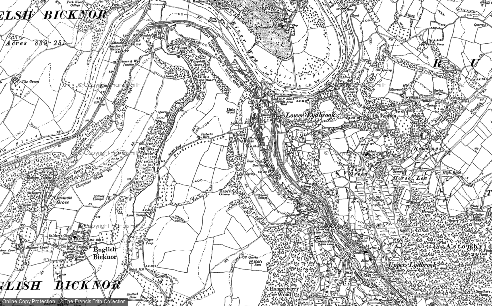 Old Map of Lower Lydbrook, 1901 in 1901
