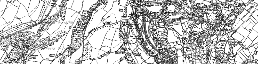 Old map of Lower Lydbrook in 1901