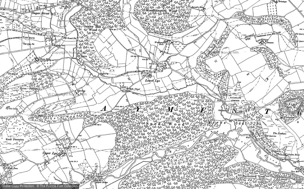 Old Map of Lower Lye, 1902 in 1902