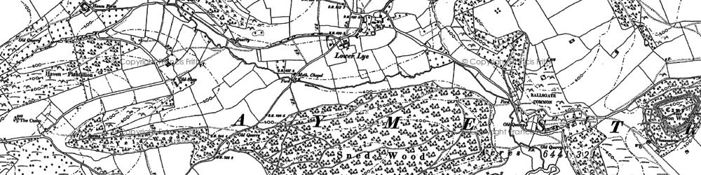Old map of Woodhampton in 1902