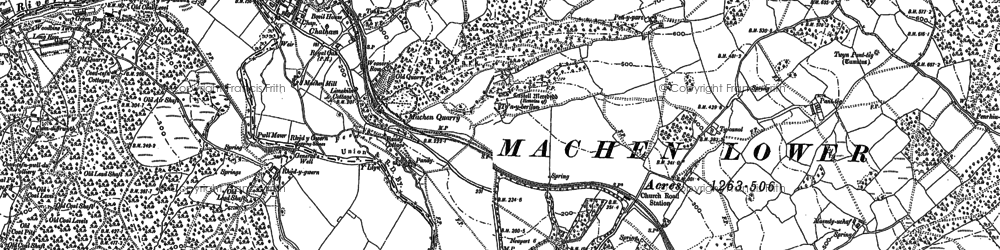 Old map of Lower Machen in 1899