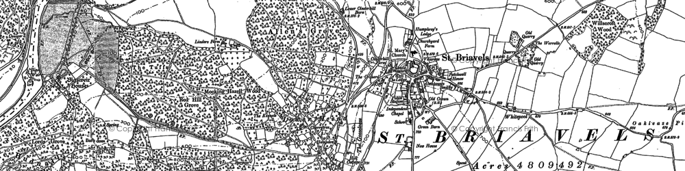 Old map of Coldharbour in 1900
