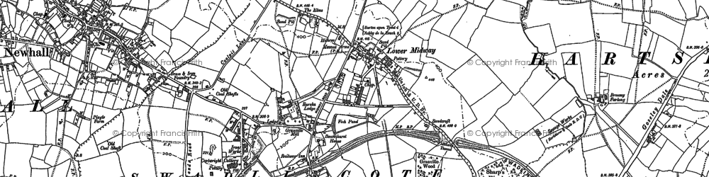 Old map of Lower Midway in 1881