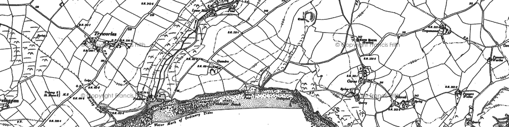 Old map of Melinsey in 1879