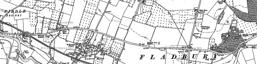 Old map of Lench Ditch in 1884