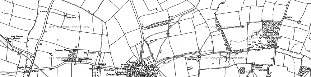 Old map of Admington Grounds in 1900