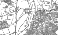Old Map of Lower Radley, 1910 - 1911
