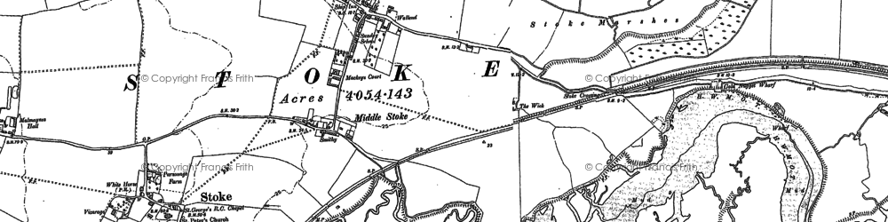 Old map of Lower Stoke in 1895
