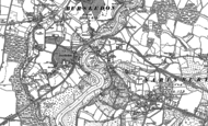 Old Map of Lower Swanwick, 1895 - 1896