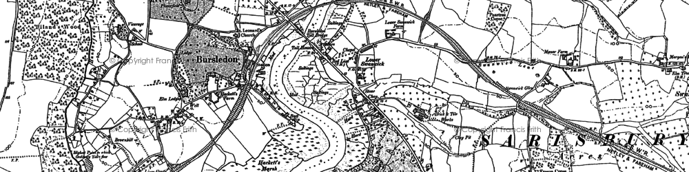 Old map of Lower Swanwick in 1895