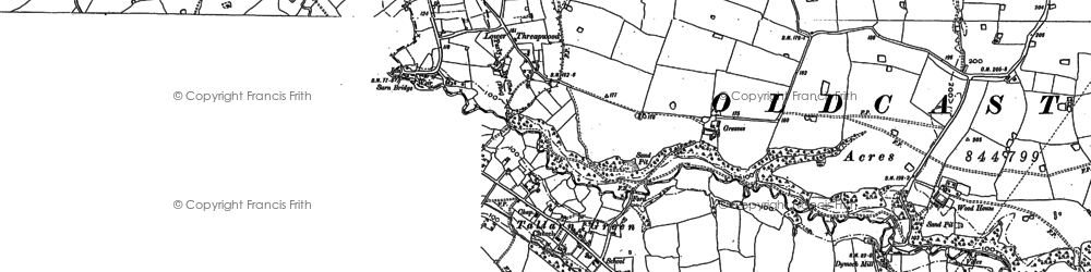 Old map of Willington Cross in 1909