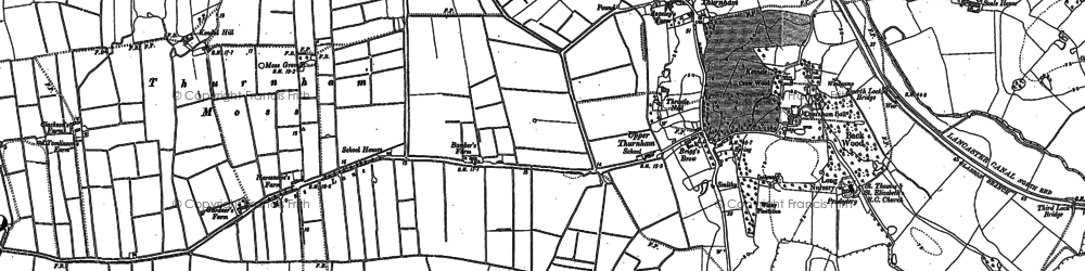 Old map of Bank Houses in 1910