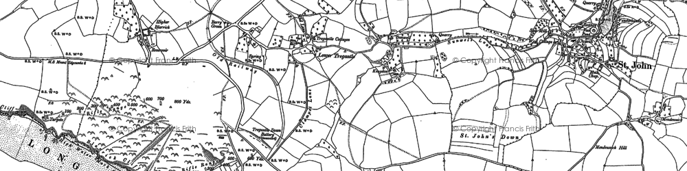 Old map of Lower Tregantle in 1883