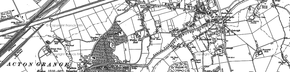 Old map of Lower Walton in 1905